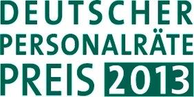 Textgrafik: Deutscher Personalräte-Preis 2013
