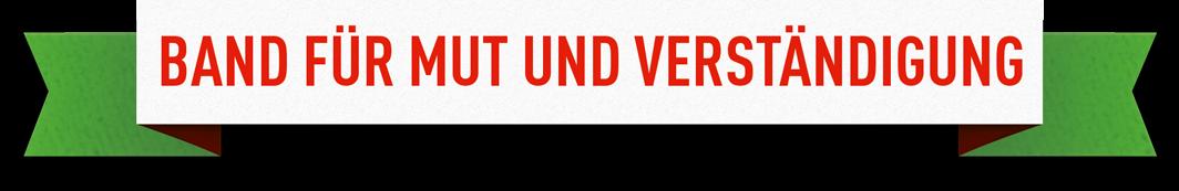 Logo Band für Mut und Verständigung