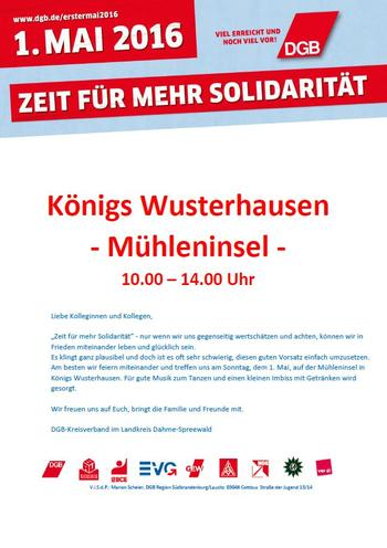 1. Mai Königs Wusterhausen