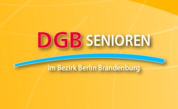 Grafik: Schriftzug DGB-Senioren im Bezirk Berlin-Brandenburg