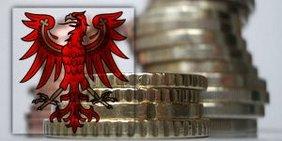Geldmünzen und Brandenburg-Adler