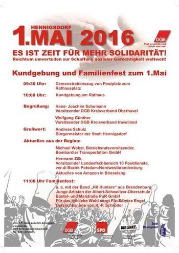 1. Mai Hennigsdorf