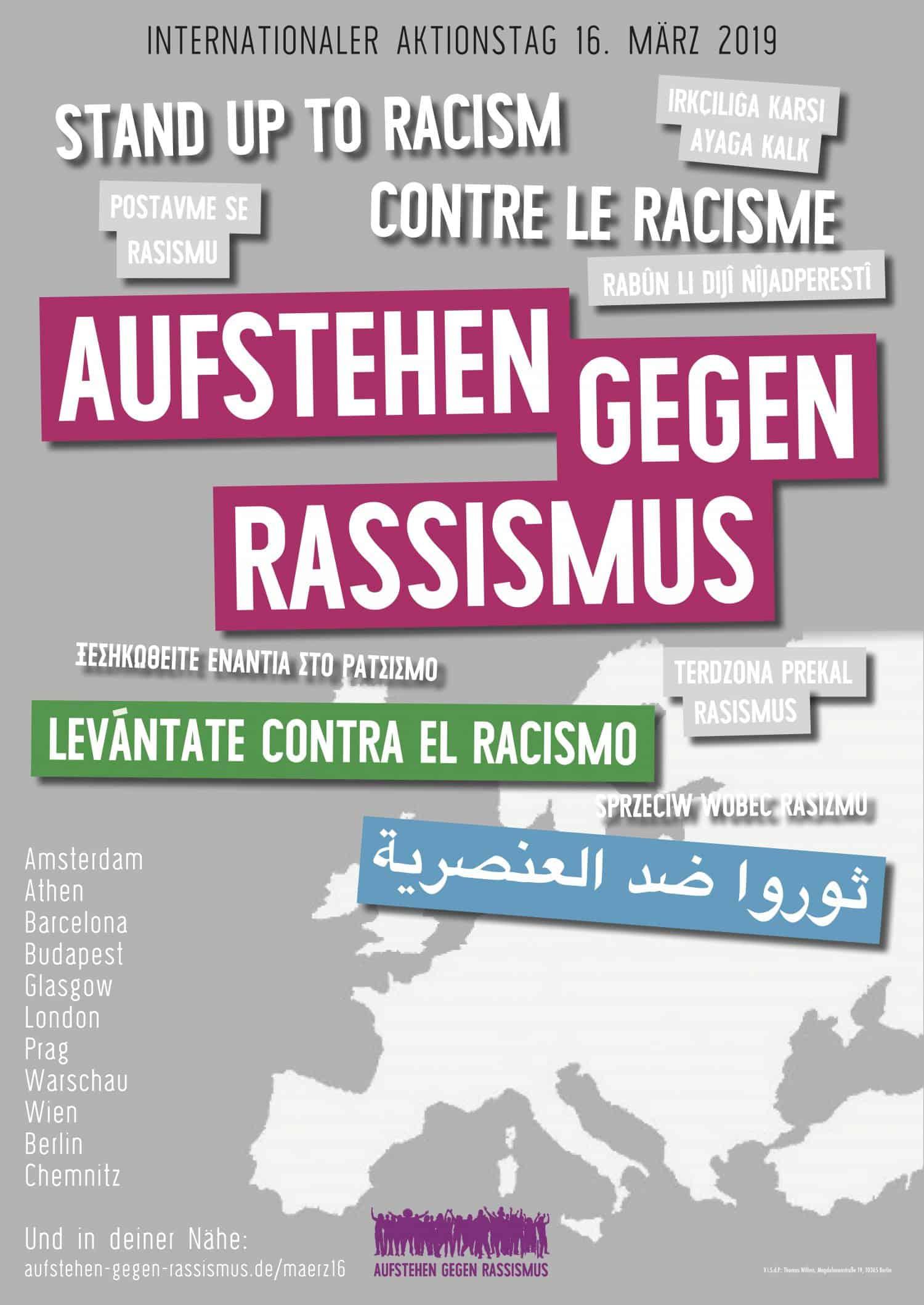 """Plakat """"Aufstehen gegen Rassismus"""""""