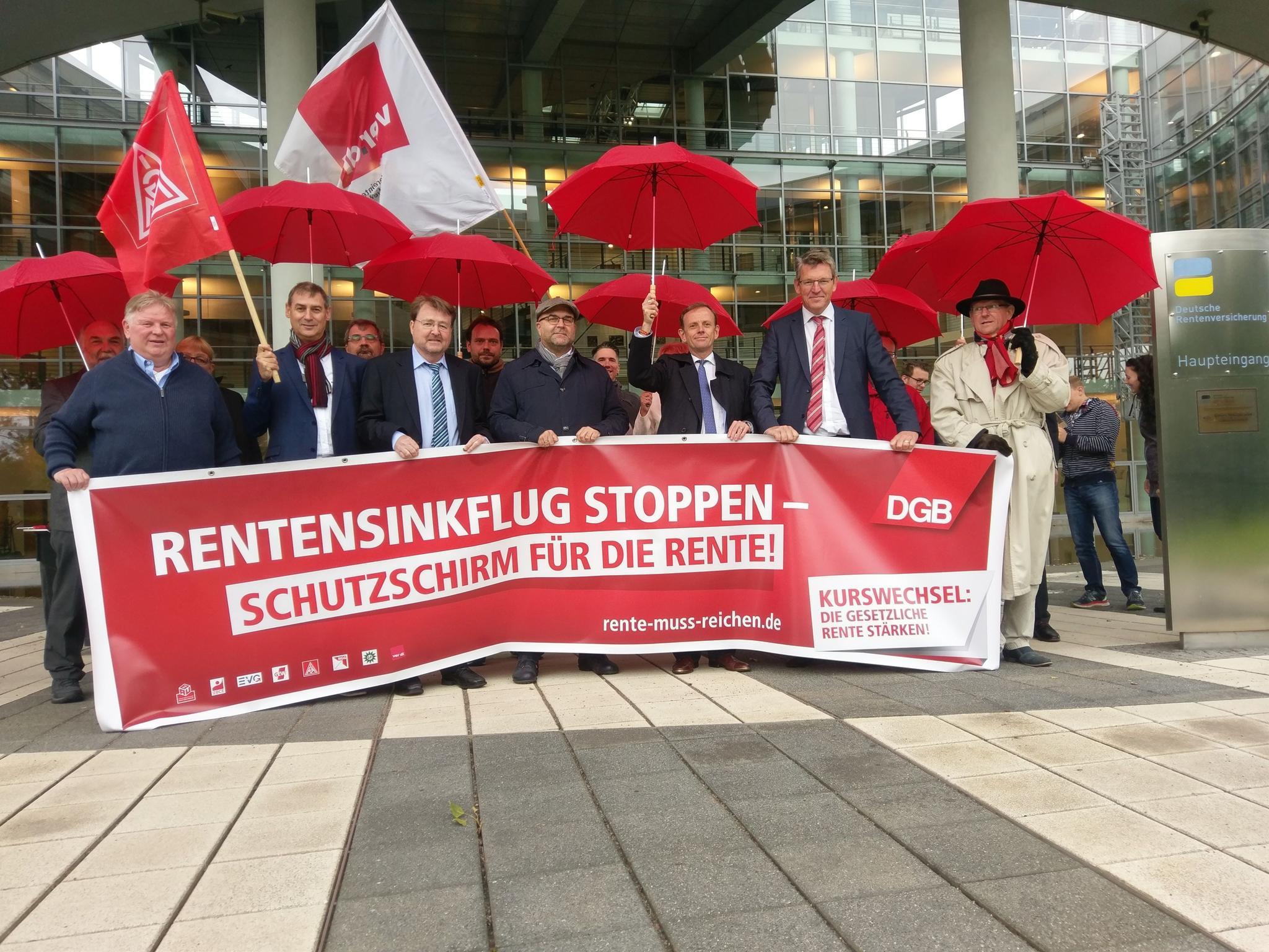 """""""Rentensinkflug stoppen – Für ein Schutzschirm für die Rente"""""""