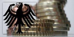 Geldmünzen und Bundesadler