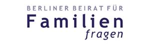 """Schriftzug """"Berliner Beirat für Familienfragen"""""""