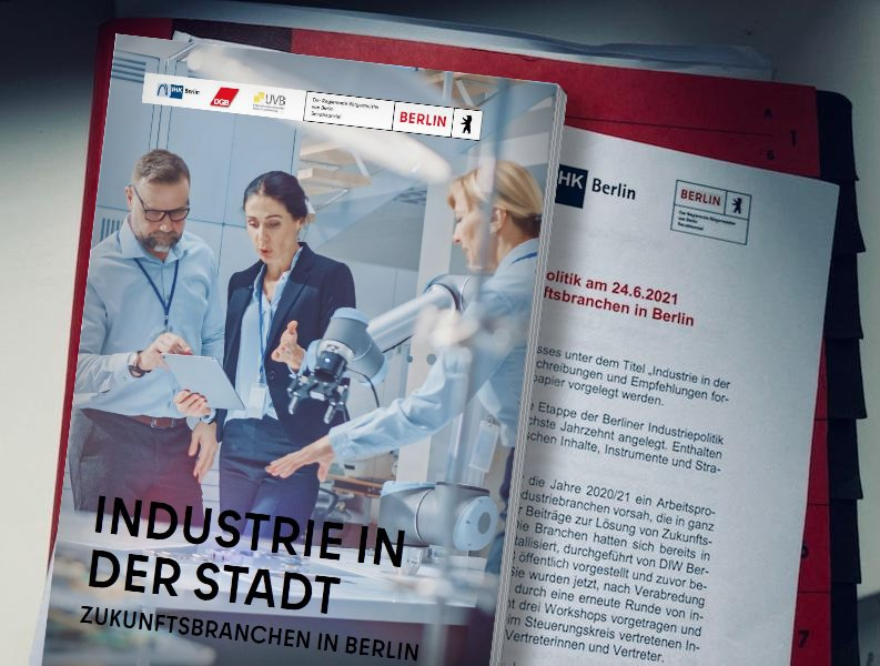 Steuerungskreis Industriepolitik 24.6.2021: Industrie in der Stadt - Zukunftsbranchen in Berlin