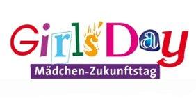 Teaser Logo Grils' Day Mädchen-Zukunftstag. Textin bunten Buchstaben und verschieden Schrifttypen.