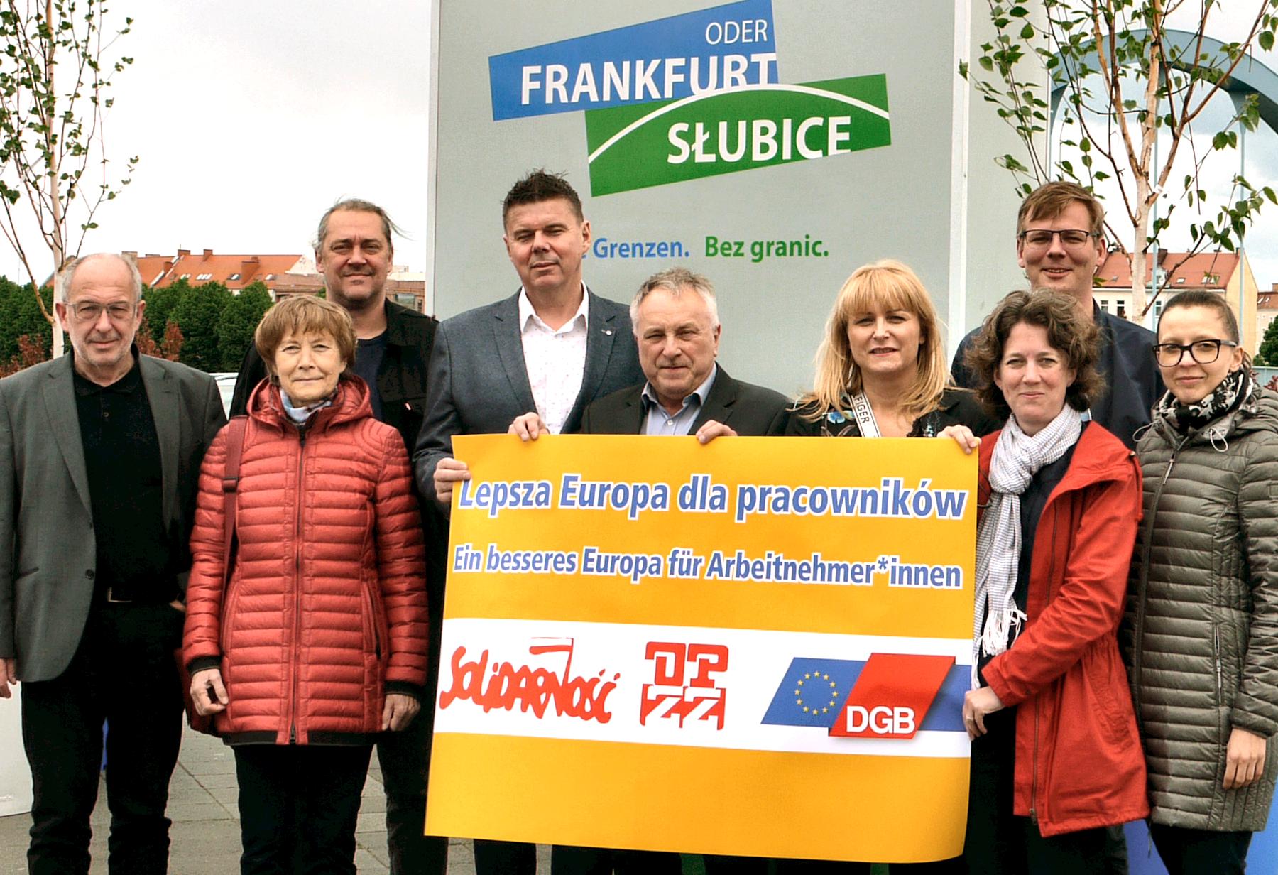 Heute hat sich der Interregionale Gewerkschaftsrat Viadrina für ein soziales Europa ausgesprochen. Bei seinem Treffen in Frankfurt (Oder) bekräftigten sie die Forderungen des DGBs, der Solidarnosc und der OPZZ an die zukünftigen gewählten Abgeordneten.