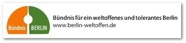 """""""Banner: Bündnis für ein weltoffenes und tolerantes Berlin"""""""