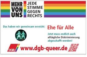 Logo dgb-queer zum CSD 2017