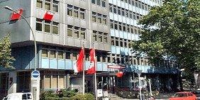 Das Gewerkschaftshaus des DGB Bezirk Berlin Brandenburg in der Keithstraße/Ecke Kleiststraße ind er Nähe des Wittenbergplatzes
