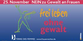 Terre des femmes Nein zu Gewalt gegen Frauen 25. November