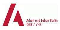 """Logo  """"Arbeit und Leben"""" Berlin, DGB/VHS"""