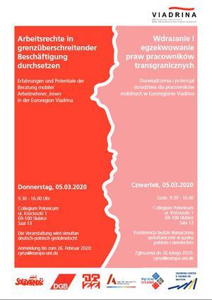 Konferenz Arbeitsrechte in grenzüberschreitender Beschäftigung durchsetzen (Poster)