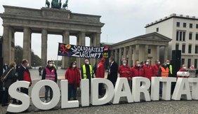 DGB 1. Mai 2021 - Solidarität vor dem Brandenburger Tor