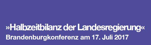 Schriftzug Brandenburgkonferenz