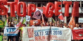 Mobilisierung für Demonstration CETA & TTIP stoppen in Berlin am 14.9.2016