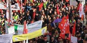 Großkundgebung der Gewerkschaften