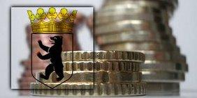 Geldmünzen und Berliner Wappen