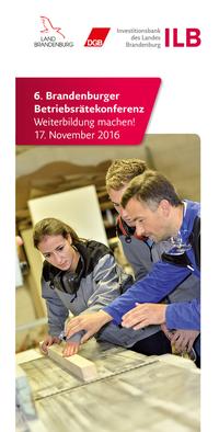 Flyer Betriebsrätekonferenz 2016