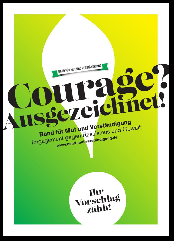 """Potskarte band für Mut und Verständigung 2019: """"Courage? Ausgezeichnet!"""""""
