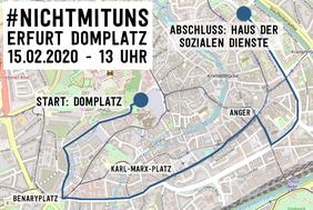 Demo-Route Erfurt 15.2.2020